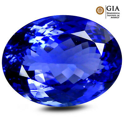 10.71 ct GIA CERTIFIED AAA+ INCOMPARABLE OVAL (15 X 11 MM) D'BLOCK TANZANITE