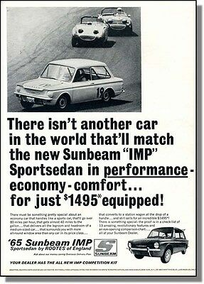 1965 Sunbeam IMP Sports Sedan - On & Off Track, print-ad
