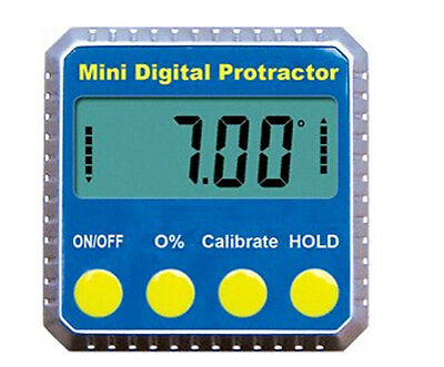 Digital Angle Gauge Meter Protractor 4x90° (0-360° )Bevel Box Inclinome w/magnet