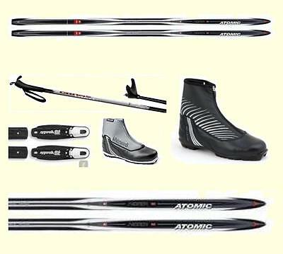 Atomic Cross Country Xc Package -  Upgrade Lace Covered Boots, Bindings & Poles