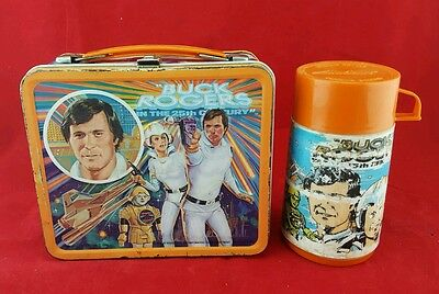 Vintage 1979 Buck Rogers Metal Lunchbox & Plastic Thermos