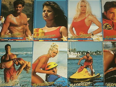 BAYWATCH (Complete 100 Trading Card Base Set) David Hasslehoff Pamela Anderson