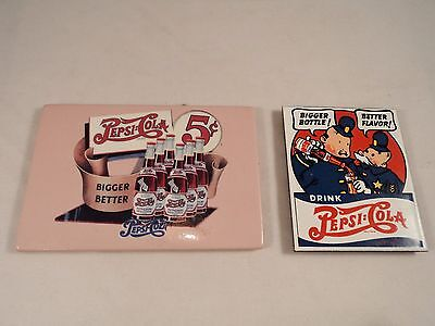 Pair Pepsi Cola Advertising Magnets 1940s Style (AD216)