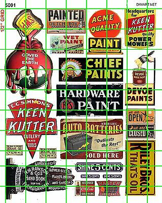 5001 Dave's Decal Business Sets Vintage Paint Company Hardware Store Advertising