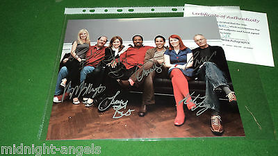 the office CAST BY 7 SIGNED PHOTO COA a