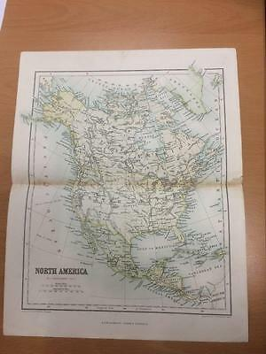 c.1860 Bartholomew / Chambers Map of North and Central America