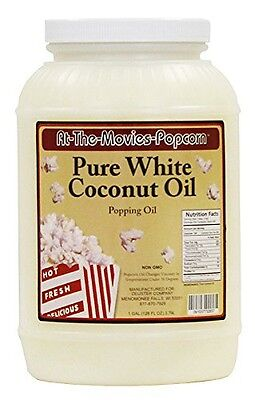 At The Movies White Coconut Popcorn Popping Oil (128oz)