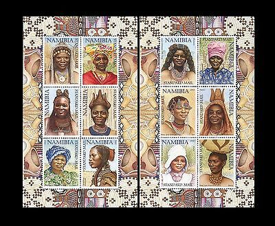 Namibia 2002 Traditional Women Hairstyles and Headdresses. INCORRECT Sheets. MNH
