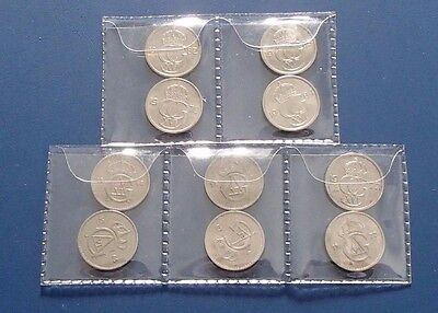 Sweden 10 different dates 10 Ore Coins - 644a