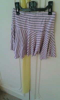 Girls Stripey pink/grey Skirt KYLIE ** GORGEOUS Girls Kylie Skirt Age 10 Years