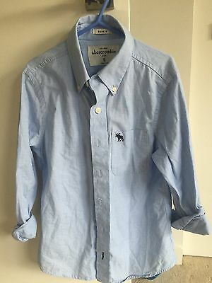 Boys Abercrombie Kids checked long sleeve shirt - great condition - size S