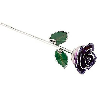 Genuine Real Lacquered PURPLE Rose With Platinum Trim The Perfect Gift!