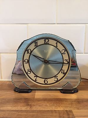 Art Deco Smiths Sectric Mirror Glass Mantle Clock.