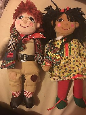 Rosie and jim dolls. Approx 10 Inch. Collectable