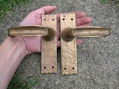 Reclaimed brass door handles - good working springs