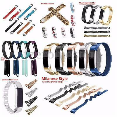 Replacement Metal/Silicone/Leather Wristband Band Strap Clasp For Fitbit Alta
