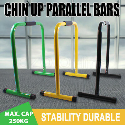 Chin Up Dip Parallel Bars Fitness Stand Cross Training Push Equaliser Home Gym