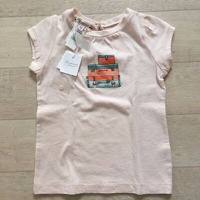 BONPOINT GIRL Pink TShirt Embroidered 3-6 Month Top NWT Last One! Free Shipping