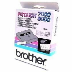 Brother Gloss Laminated Labelling Tape - 12mm, Black/Clear