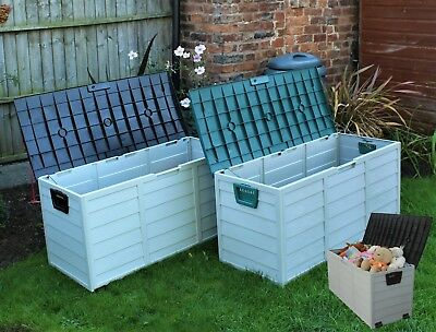 Storage Box Outdoor Garden Plastic Utility Chest Cushion Shed Box 290L