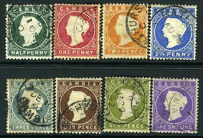 GAMBIA-1886-93 Set to 1/- Sg 21-35  FINE USED V13191