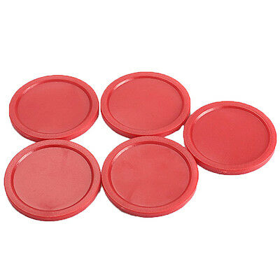 5Pcs 51mm Red Air Hockey Children Pucks Mini Felt Pusher Mallet Puck Goalies