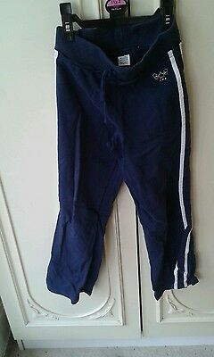 Girls M&s Jogging Bottoms/joggers Age 9 Years Vgc