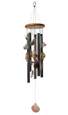 Wind Chimes With Shells Beach Coastal Decor | 72cm long