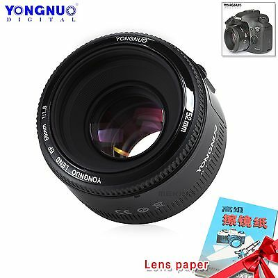 YONGNUO YN50MM F1.8 AF/MF Standard Prime Lens for Canon EOS Rebel Camera