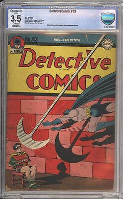 Detective Comics # 93  One Night of Crime !  CBCS 3.5 scarce Golden Age book !