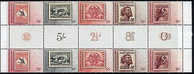 2009 Australia's Favourite Stamps gutter strip of 10 MUH
