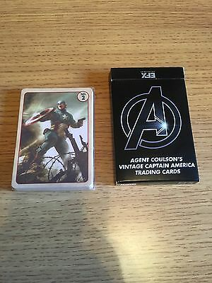 Agent Coulsons Vintage Captain America Cards