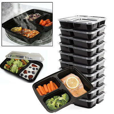Microwave Dishwasher Safe Stackable Meal Prep Plastic Food Containers With Lid