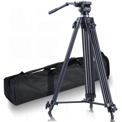 1.3m Professional Heavy Duty DV Video Camera Tripod With Fuild Pan Head Kit