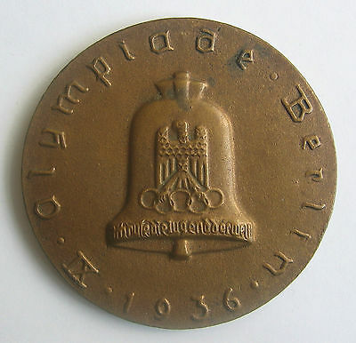 Official Participation Medal International Olympic Cycle Rally Berlin 1936