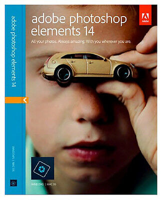 Adobe Photoshop Elements 14,  Mac and PC, sealed full version.
