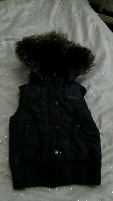 Fat Face girls gillet or bobywarmer age 4-5 purple patterned