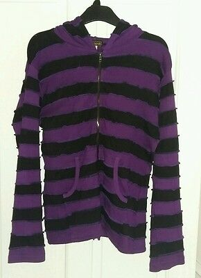 Black and Purple Hooded Top
