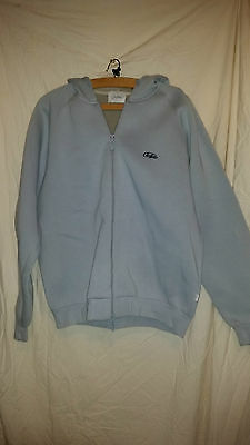 True Vintage Buffalo Slate Blue Hooded Top/jacket Soft Lining 46 Chest