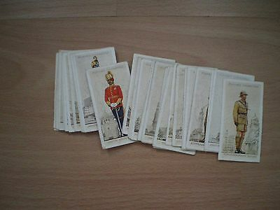 Collection Of John Player Military Uniforms Of The British Empire Overseas Cards