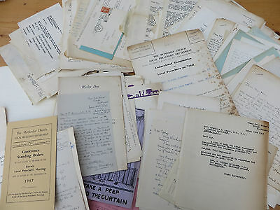 Job Lot Vintage Correspondence Letters Etc Relating To Lepidoptary & The Church