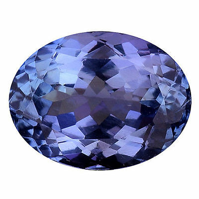 1.590Cts Flawless Blue  Natural Tanzanite Oval Loose Gemstones