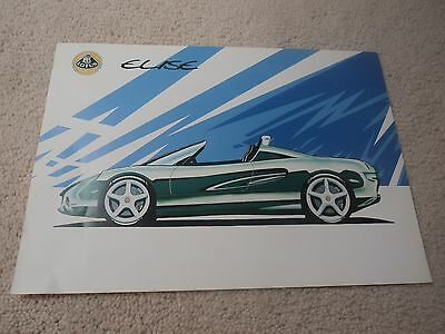 Lotus Elise S1 -  1st Brochure/Specification Sheet