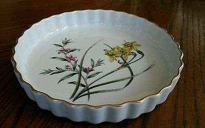 Spode stafford flowers narcissus & crowea quiche excellent condition