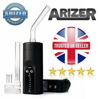 Brand New Arizer Solo Portable Vaporizer in Chrome Black 2017 Edition - UK Plug