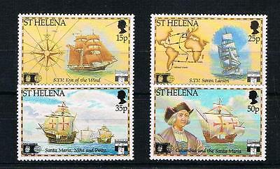 st helena 1992 discovery of america by columbus u/m set
