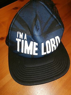 DOCTOR WHO FANDOM BASEBALL CAP 'I'M A TIMELORD' (Never worn)