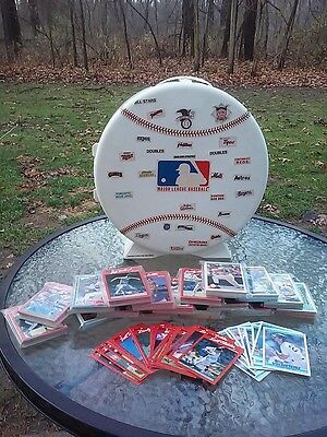 Vtg Skilcraft MLB Baseball Authentic Plastic Card Case Wall Mount W/ 500+ Cards