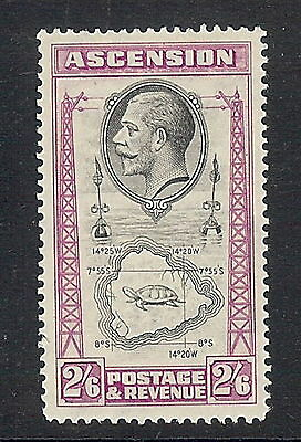 Ascension Island 1934 2s 6d Black & Bright Purple. SG 29. MNH