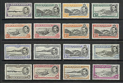 Ascension Island 1938 - 53 Set of 16. SG 38 - 47b. MH